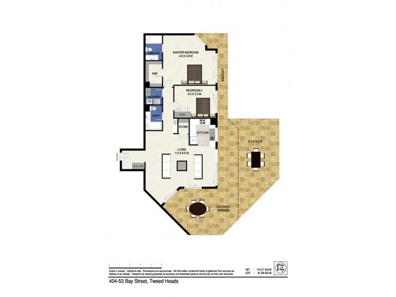 404/53 Bay Street 'Seascape', Tweed Heads NSW 2485 Floorplan