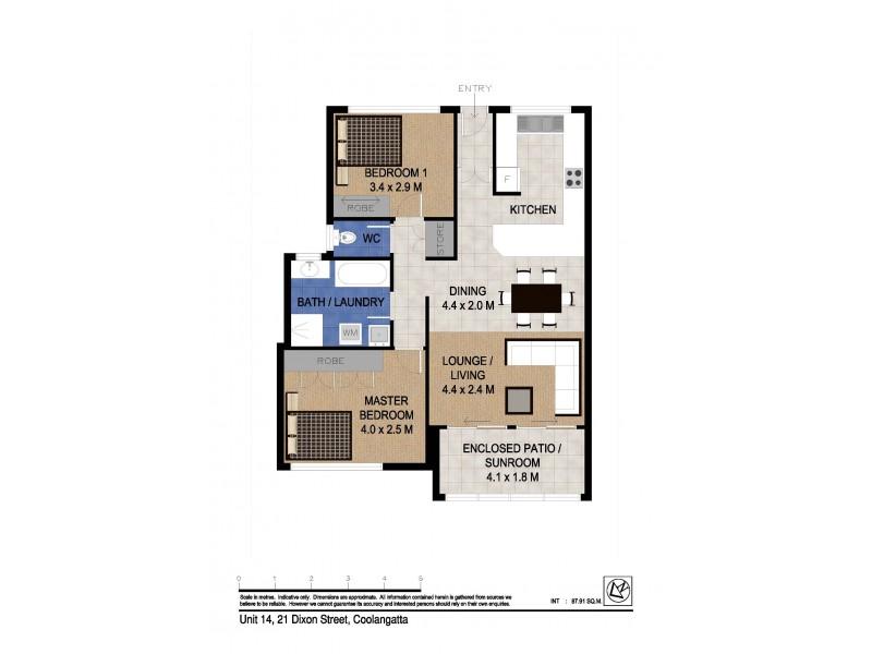 14/21 Dixon Street 'Dixon Lodge', Coolangatta QLD 4225 Floorplan