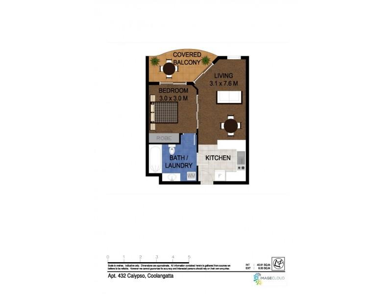 432/99 Griffith Street 'Calypso Plaza', Coolangatta QLD 4225 Floorplan