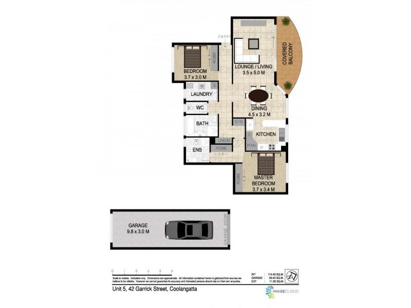5/42 Garrick Street 'Ocean Vista, Coolangatta QLD 4225 Floorplan