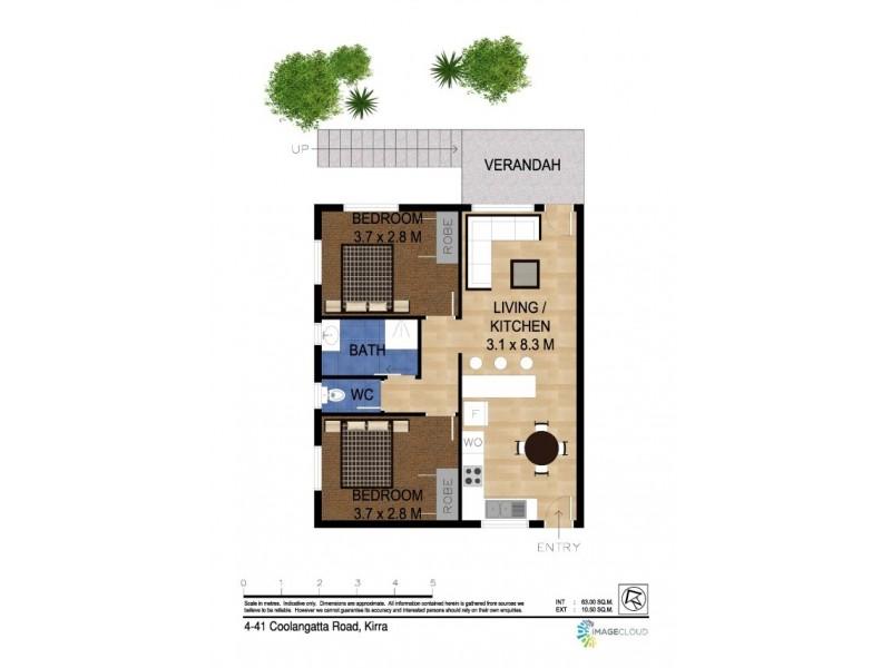 4/41 Coolangatta Road 'Impala Lodge', Coolangatta QLD 4225 Floorplan