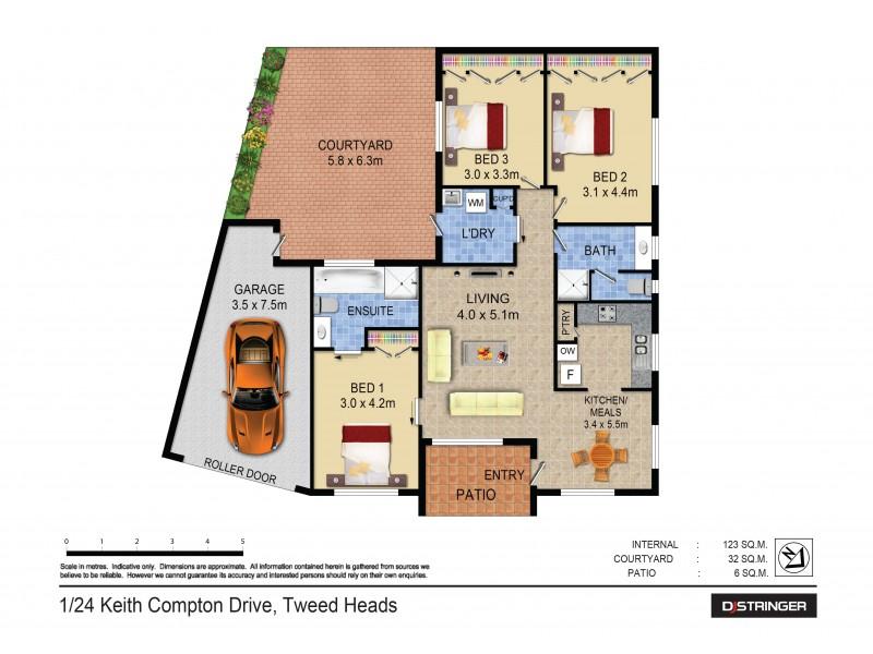 1/24 Keith Compton Drive, Tweed Heads NSW 2485 Floorplan