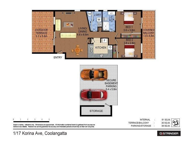 1/17 Korina Avenue, Kirra QLD 4225 Floorplan