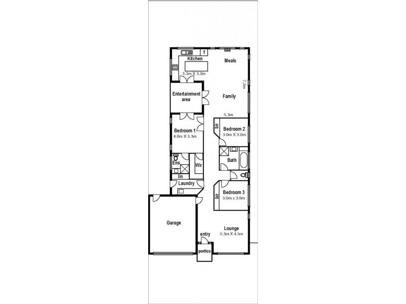 9 Dahlia Drive, Caroline Springs VIC 3023 Floorplan