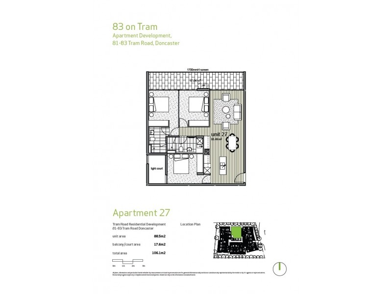 Apt 27/81-83 Tram Road, Doncaster VIC 3108 Floorplan