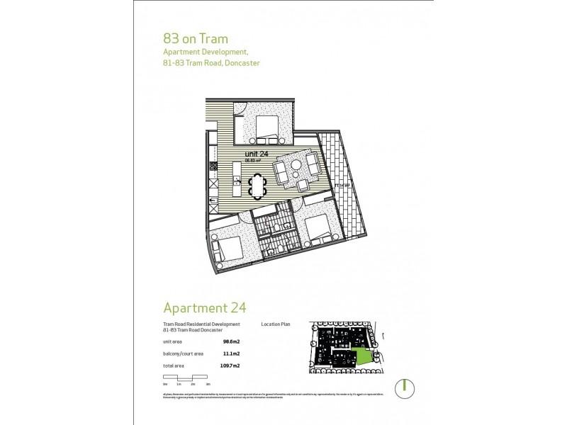 Apt 24/81-83 Tram Road, Doncaster VIC 3108 Floorplan