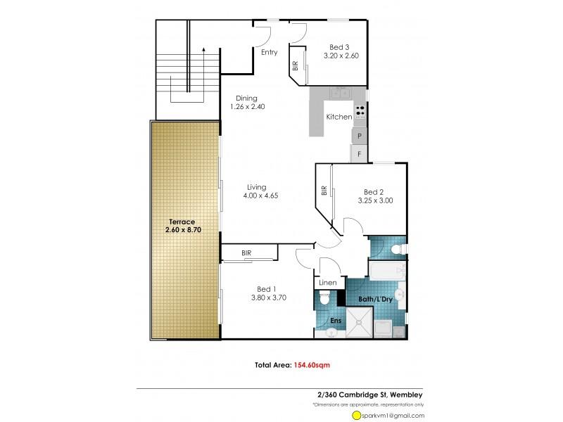 2/360 Cambridge Street, Wembley WA 6014 Floorplan