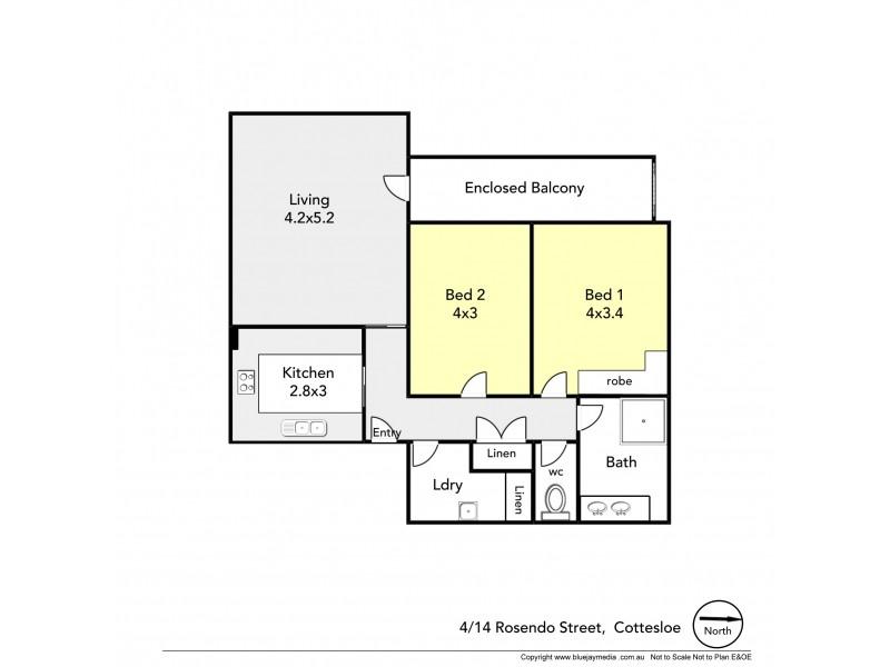 4/14 Rosendo Street, Cottesloe WA 6011 Floorplan