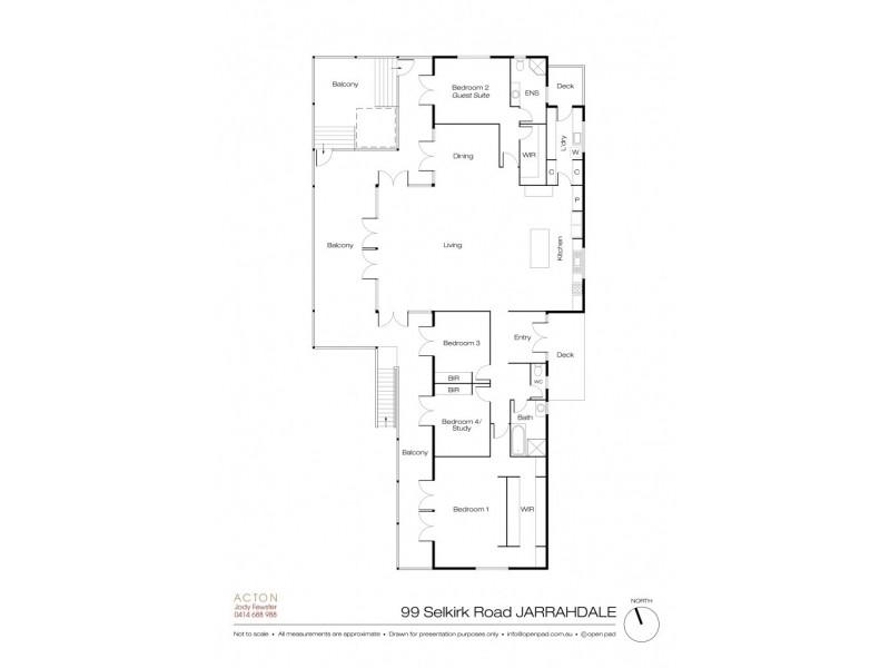 99 Selkirk Road, Jarrahdale WA 6124 Floorplan