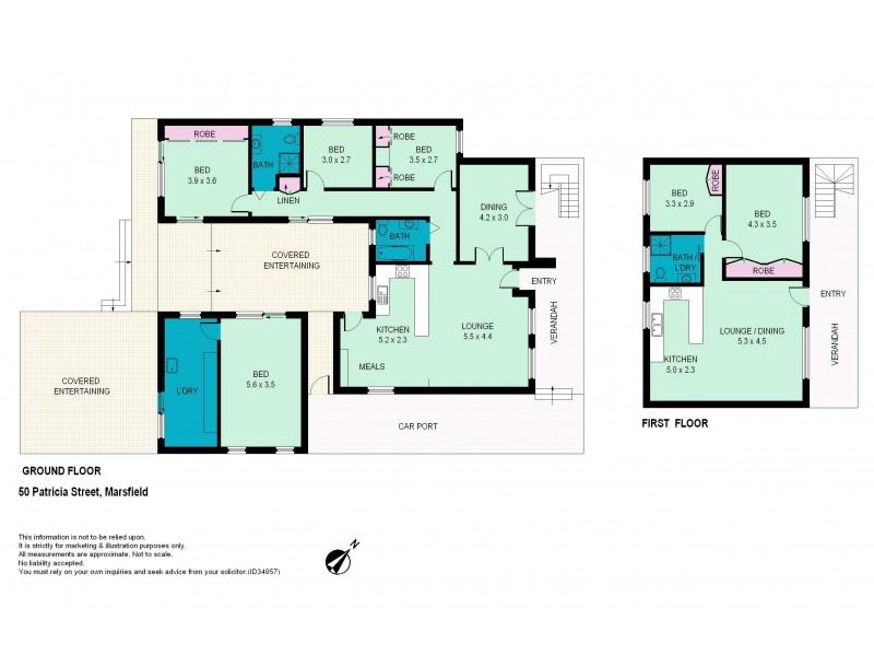 50 Patricia Street, Marsfield NSW 2122 Floorplan