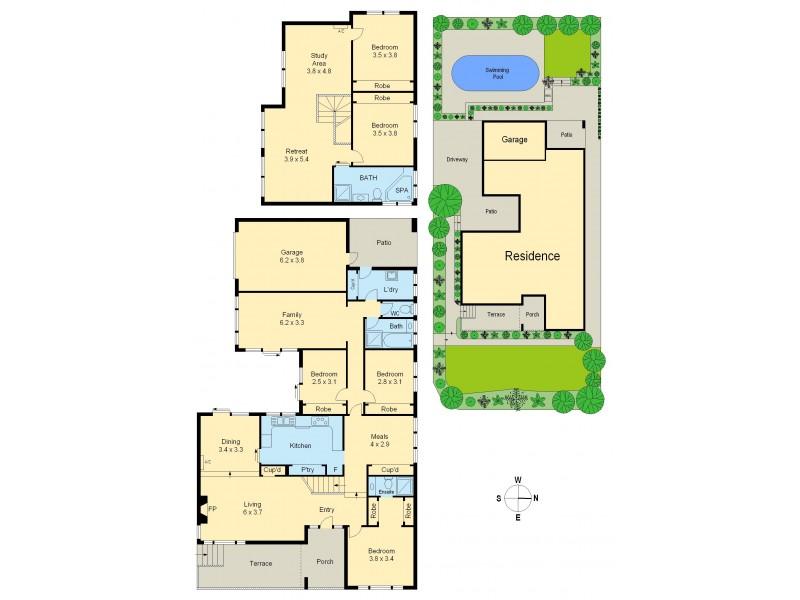 15 Louise Street, Heidelberg VIC 3084 Floorplan
