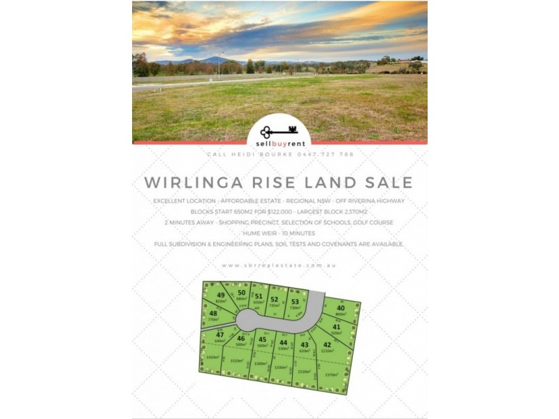 LOTS 40-53 WIRLINGA RISE, Thurgoona NSW 2640