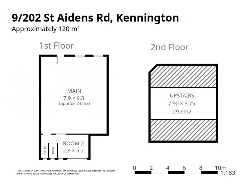 9/202 St Aidans Road, Kennington VIC 3550 Floorplan