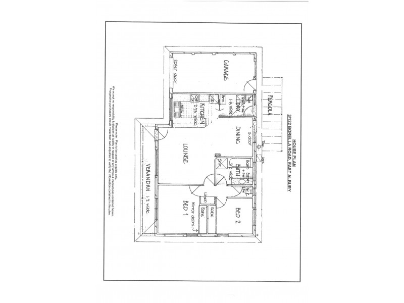 3/122 Borella Road, East Albury NSW 2640 Floorplan