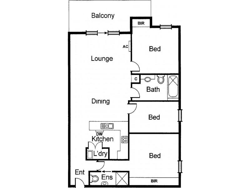 7/1537 Malvern Rd, Glen Iris VIC 3146 Floorplan