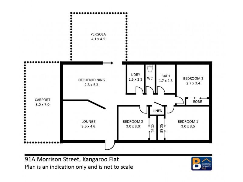 91A Morrison Street, Kangaroo Flat VIC 3555 Floorplan