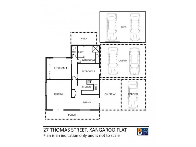 27 Thomas Street, Kangaroo Flat VIC 3555 Floorplan
