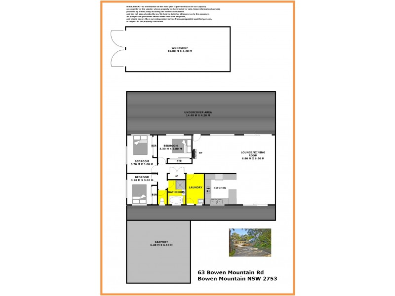 63 Bowen Mountain Road, Bowen Mountain NSW 2753 Floorplan