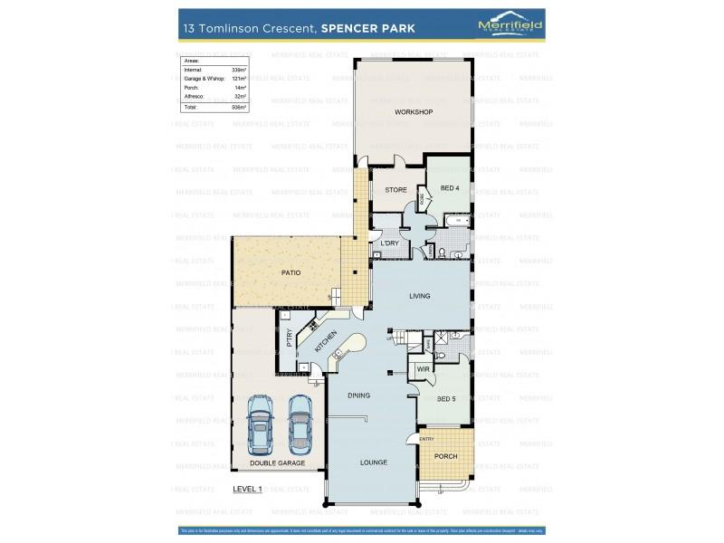 13 Tomlinson Crescent, Spencer Park WA 6330 Floorplan