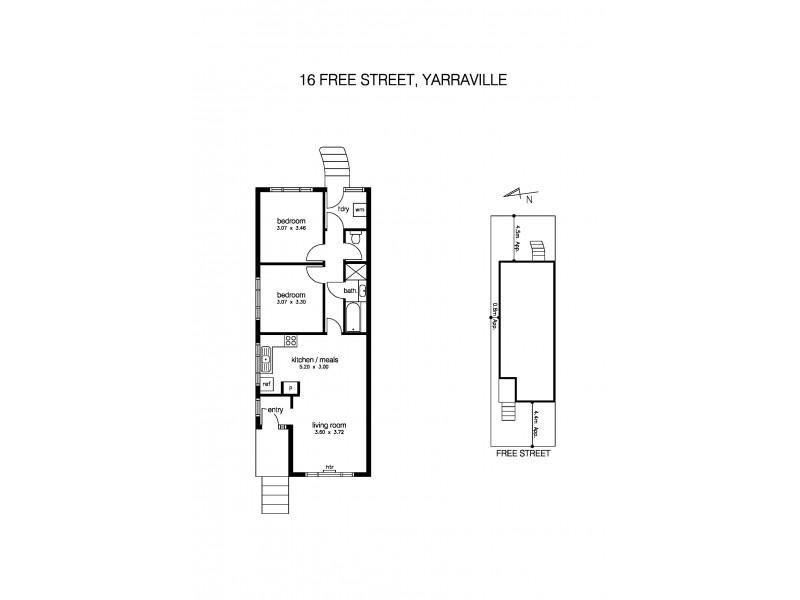 16 Free Street, Yarraville VIC 3013 Floorplan
