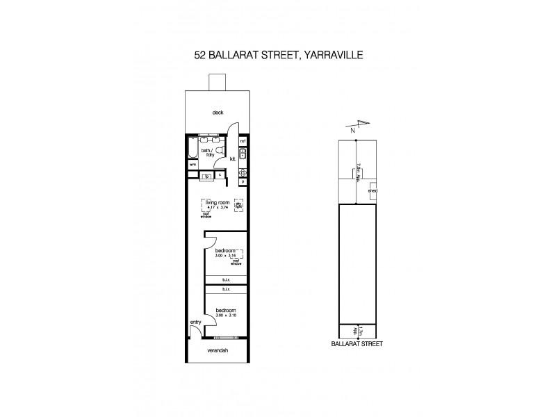 52 Ballarat Street, Yarraville VIC 3013 Floorplan