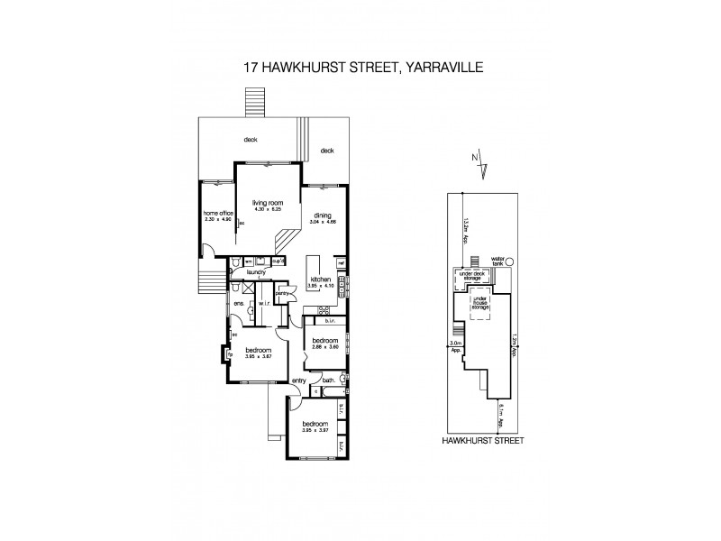17 Hawkhurst Street, Yarraville VIC 3013 Floorplan