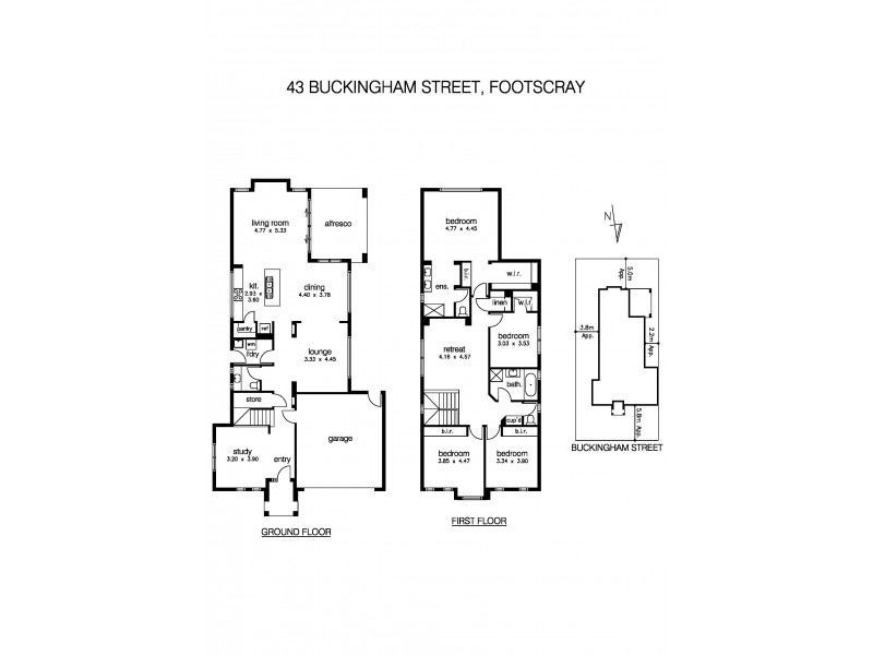 43 Buckingham Street, Footscray VIC 3011 Floorplan