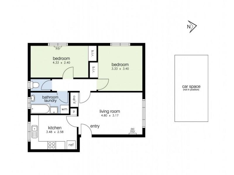 1/6 Hatfield Court, West Footscray VIC 3012 Floorplan
