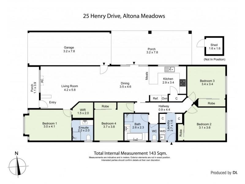 25 Henry Drive, Altona Meadows VIC 3028 Floorplan
