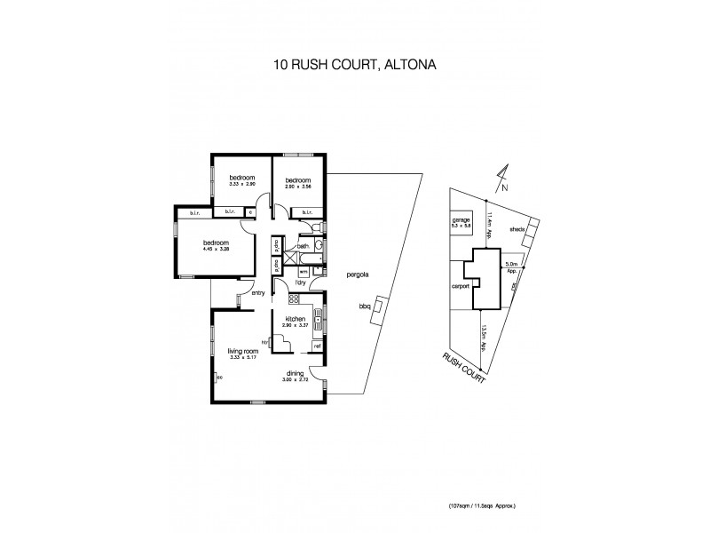 10 Rush Court, Altona VIC 3018 Floorplan