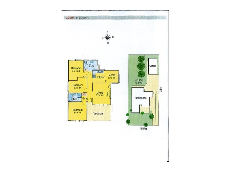 58 Brook Drive, Altona VIC 3018 Floorplan