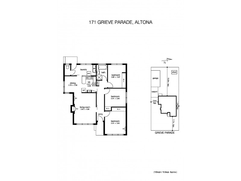 171 Grieve Parade, Altona VIC 3018 Floorplan