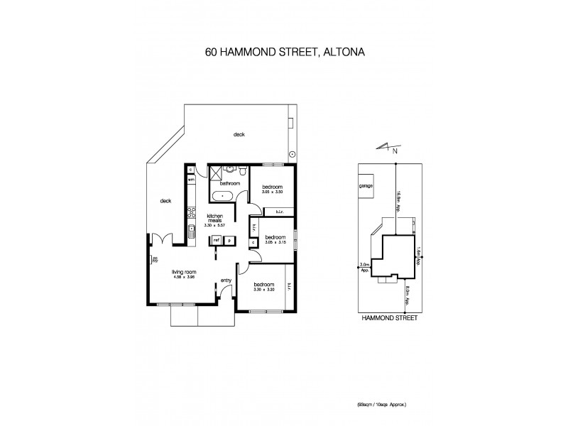 60 Hammond Street, Altona VIC 3018 Floorplan