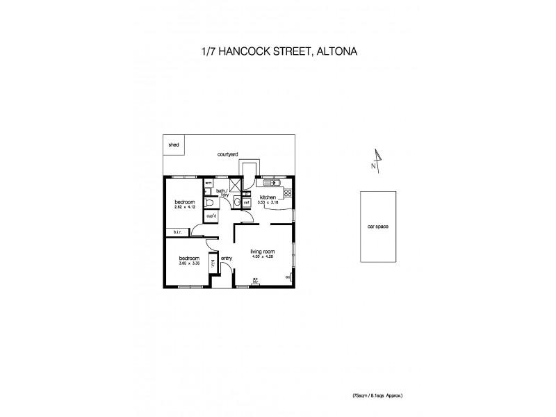 1/7 Hancock Street, Altona VIC 3018 Floorplan