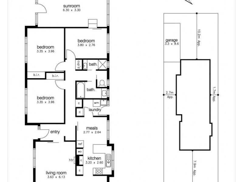15 Merton Street, Altona Meadows VIC 3028 Floorplan