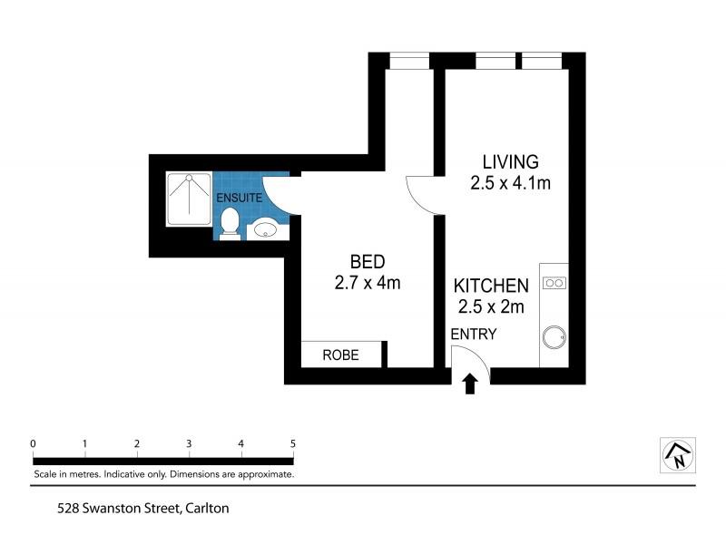 817/528 Swanston Street, Carlton VIC 3053 Floorplan