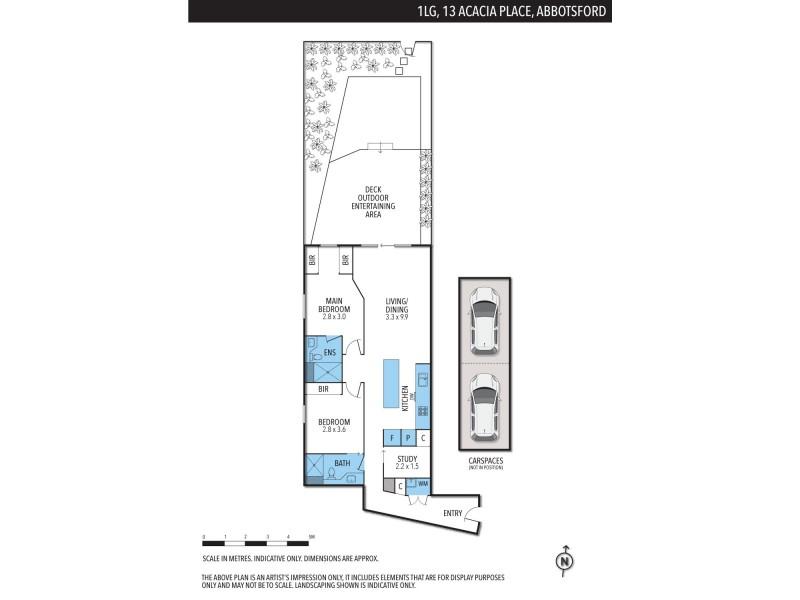 1LG/13 Acacia Place, Abbotsford VIC 3067 Floorplan