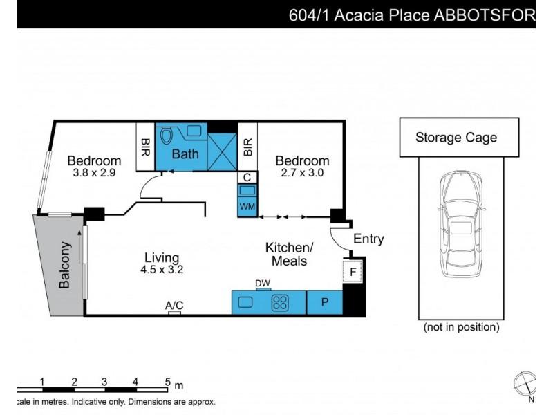 604/1 Acacia Place, Abbotsford VIC 3067 Floorplan
