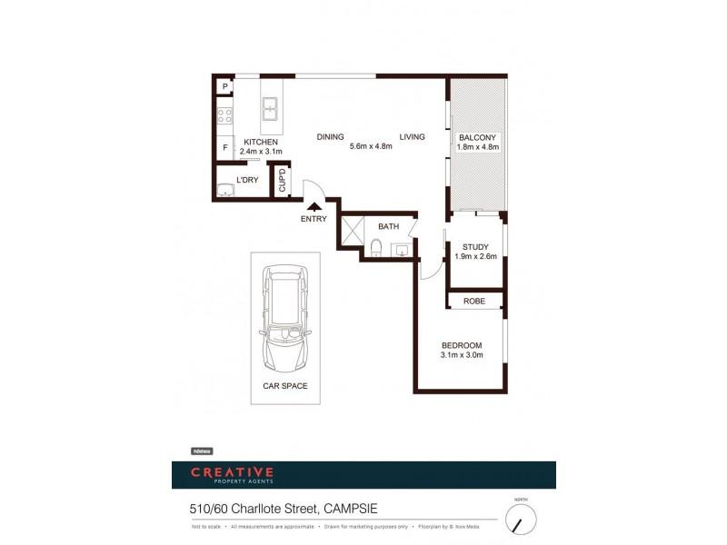 510/60 Charlotte Street, Campsie NSW 2194 Floorplan