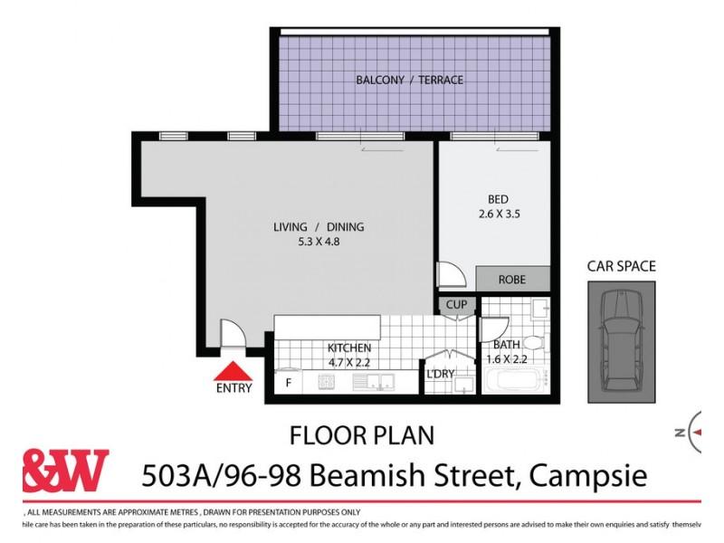 503a/96-98 BEAMISH STREET, Campsie NSW 2194 Floorplan