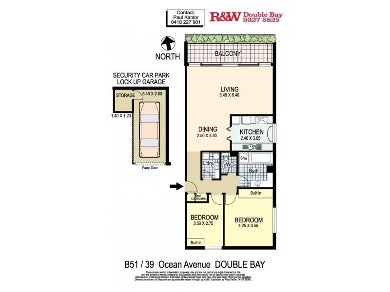 B.51/39 Ocean Avenue, Double Bay NSW 2028 Floorplan