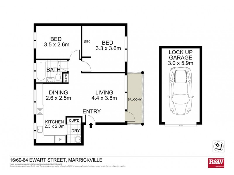 16/60 Ewart Street, Marrickville NSW 2204 Floorplan