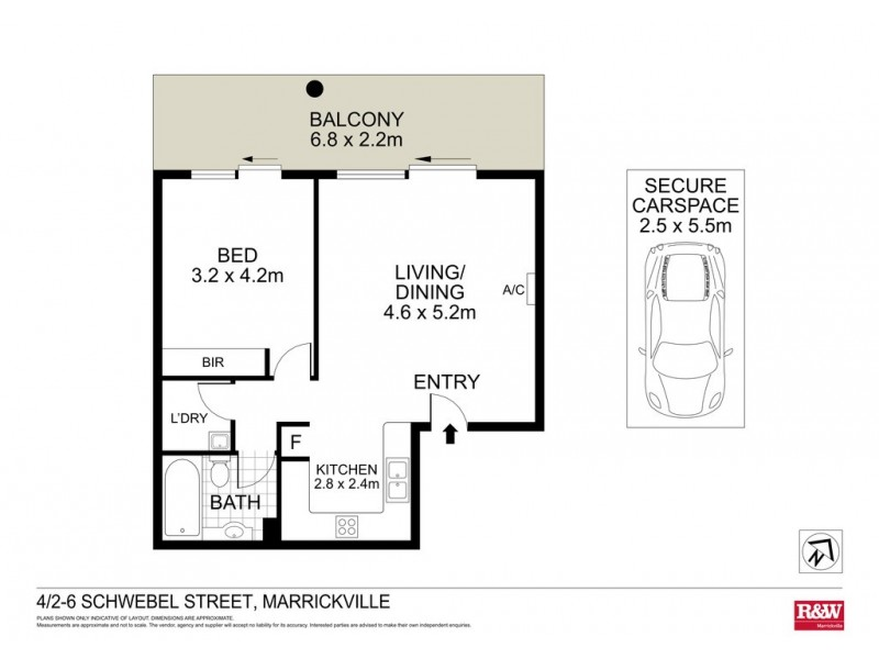 4/2 Schwebel Street, Marrickville NSW 2204 Floorplan