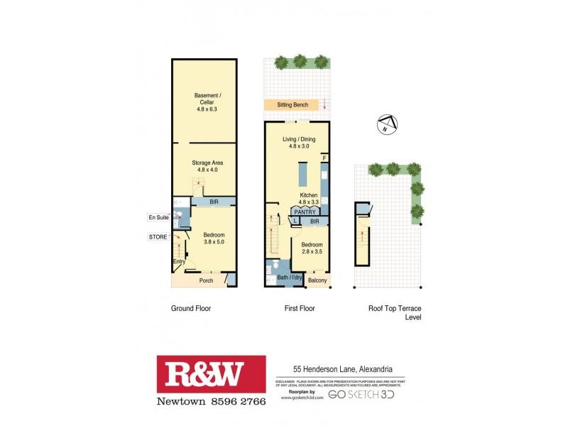 55 Henderson Lane, Alexandria NSW 2015 Floorplan