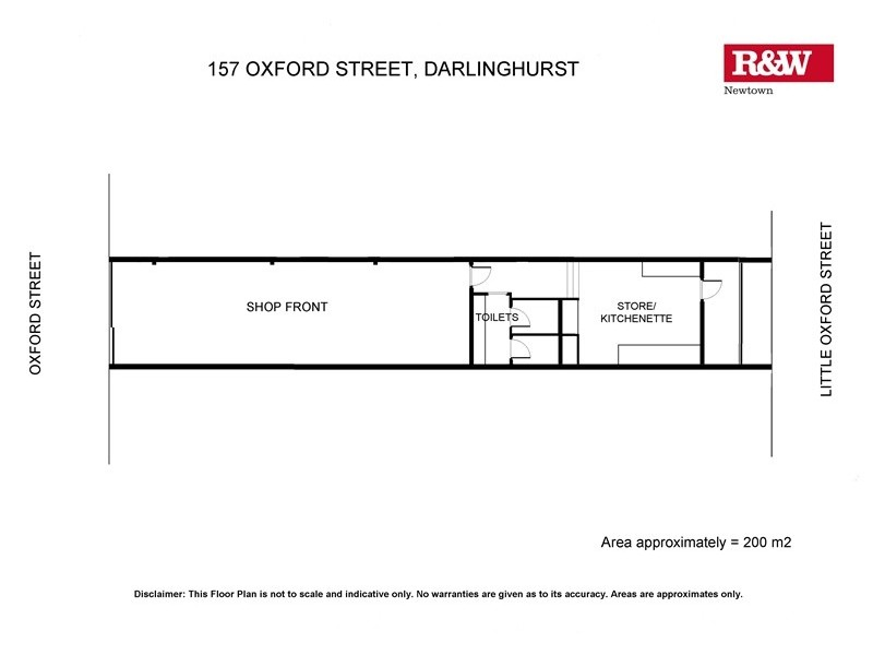 157 Oxford Street, Darlinghurst NSW 2010 Floorplan