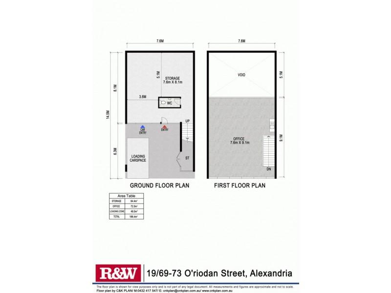 19/69-73 O'riordan Street, Alexandria NSW 2015 Floorplan