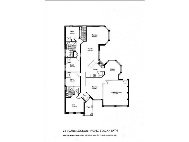74 Evans Lookout Road, Blackheath NSW 2785 Floorplan