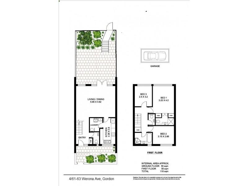4/61-63 Werona Avenue, Gordon NSW 2072 Floorplan