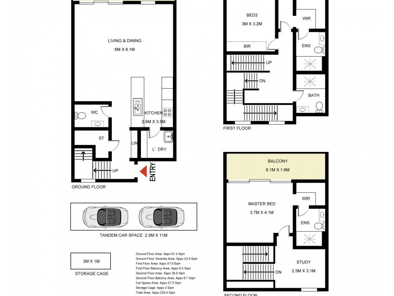 2 and 3 @ 146 Mona Vale Road, Pymble NSW 2073 Floorplan