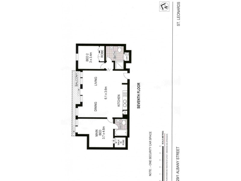 29/1 Albany St, St Leonards NSW 2065 Floorplan